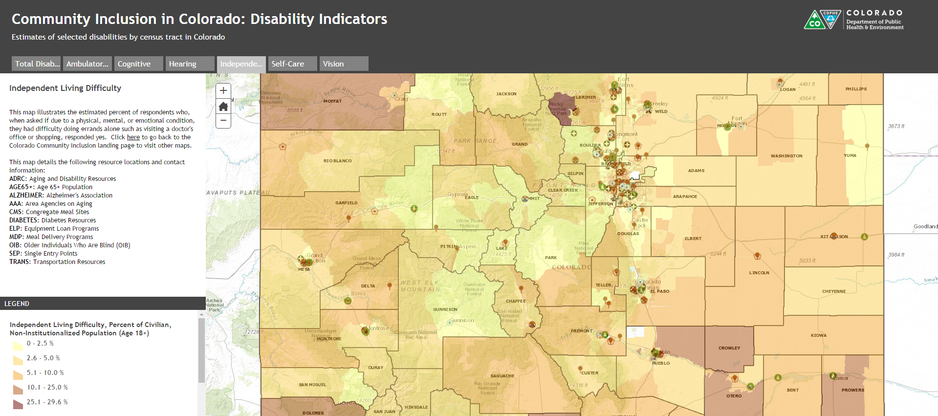 Colorado Community Inclusion - Colorado maps